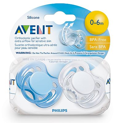 Avent Free-Flow Pacifier Set - Newborn