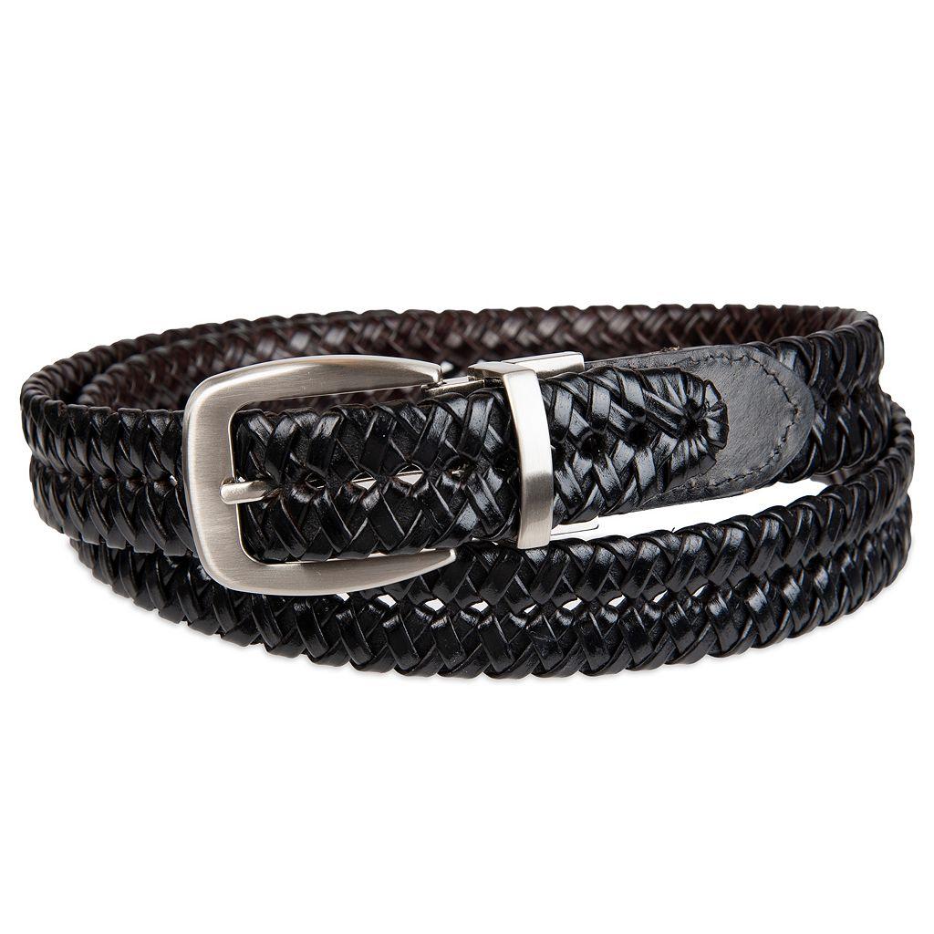 Croft & Barrow® Basket Weave Reversible Faux-Leather Belt