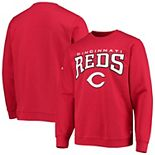 Men's Stitches Red Cincinnati Reds Team Pullover Sweatshirt