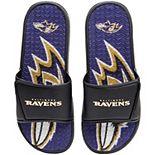 Men's FOCO Baltimore Ravens Wordmark Gel Slide Sandals