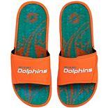 Men's FOCO Miami Dolphins Wordmark Gel Slide Sandals