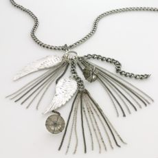 Beaded Feather Charm Necklace
