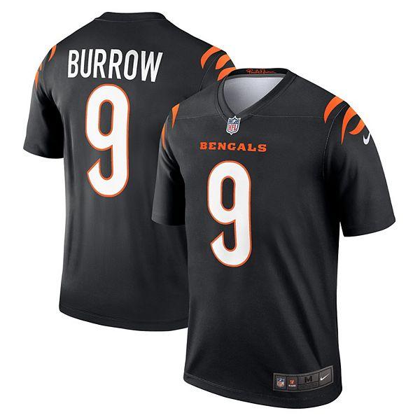 Men's Nike Joe Burrow Black Cincinnati Bengals Legend Jersey