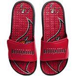 Men's FOCO Tampa Bay Buccaneers Wordmark Gel Slide Sandals