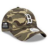 Women's New Era Camo Boston Red Sox 2021 Armed Forces Day 9TWENTY Adjustable Hat