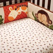 Kids Line Jungle 1, 2, 3 Fitted Crib Sheet