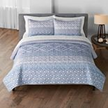 Sonoma Goods For Life® New Traditions Rizia Printed Quilt or Sham