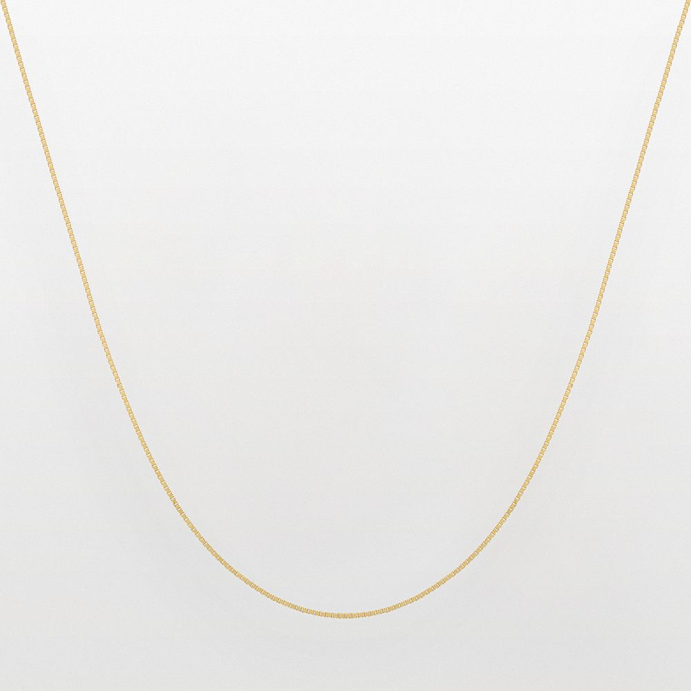 Everlasting Gold 14k Gold Venetian Box Chain Necklace