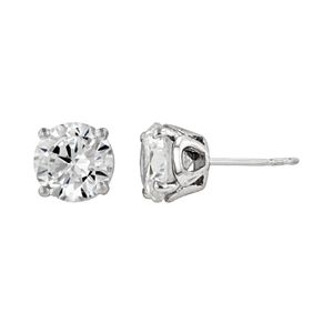 DiamonLuxe Sterling Silver 3 1/10-ct. T.W. Simulated Diamond Stud Earrings