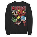 Men's Marvel Avengers Classic Group Shot Circles Sweatshirt