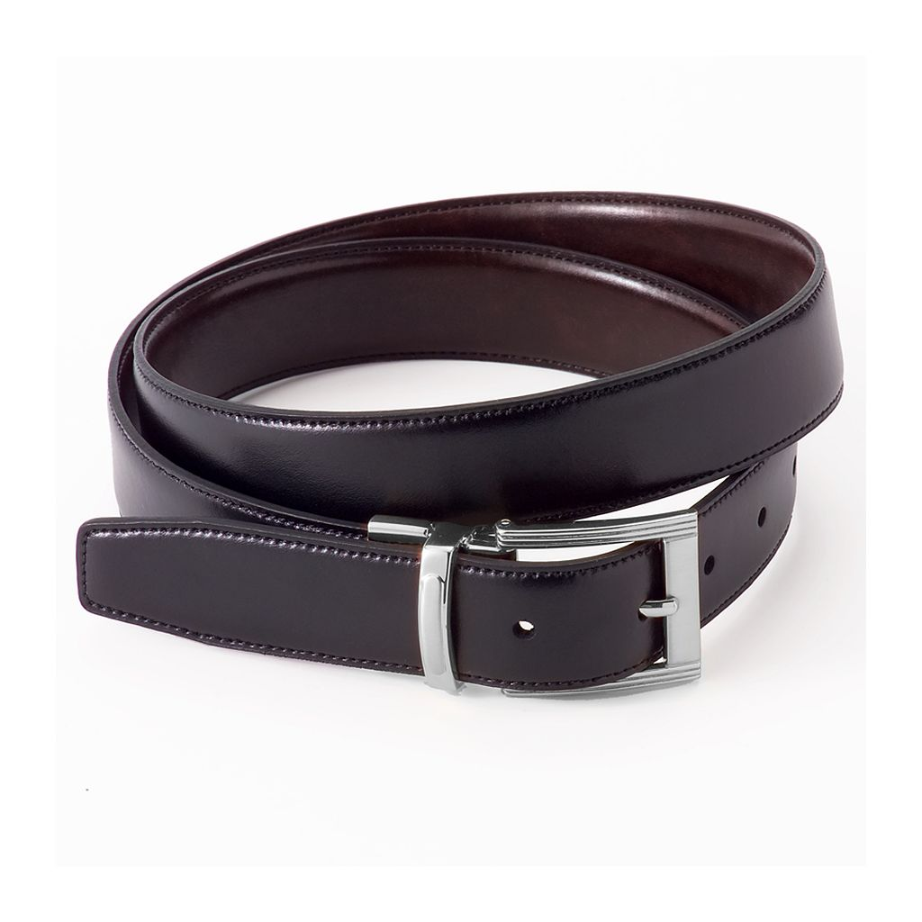 Big & Tall Croft & Barrow® Reversible Stitch-Edge Faux-Leather Belt