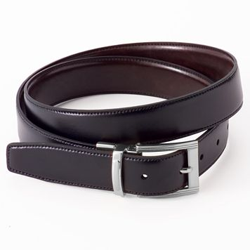 Big & Tall Croft & Barrow® Reversible Stitch-Edge Faux-Leather Belt