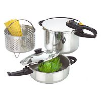 Fagor Duo 5-pc. Stainless Steel Pressure Cooker Set
