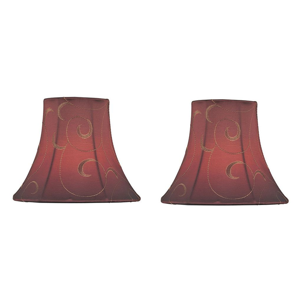 Red Scroll 6-in. Candelabra Shade Set