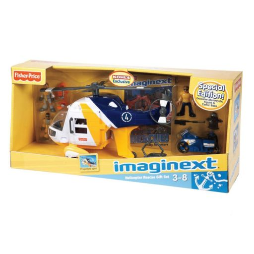 Fisher-Price Imaginext Ocean Helicopter and Cycle Set