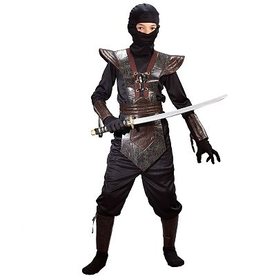 Leather Ninja Fighter Costume - Kids