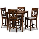 Baxton Studio Lenoir Pub Dining Table & Chair 5-piece Set