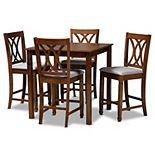 Baxton Studio Reneau Pub Dining Table & Chair 5-piece Set