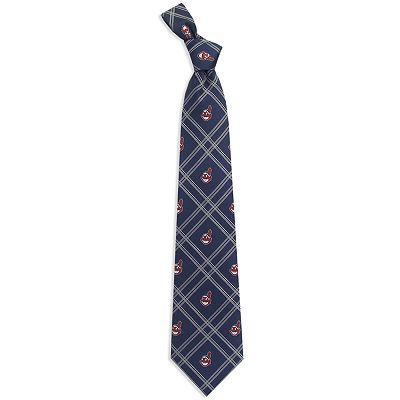 Cleveland Indians Plaid Tie