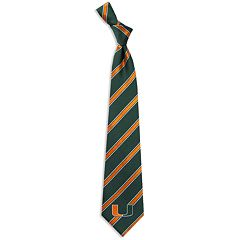 Miami Hurricanes Striped Tie