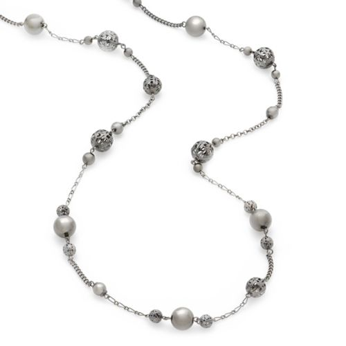 Apt. 9® Jet Beaded Long Necklace