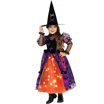 Fiber Optic Pretty Witch Costume - Kids