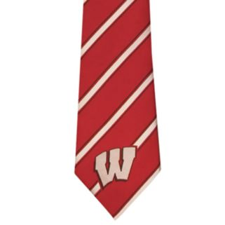 Adult Wisconsin Badgers Striped Tie