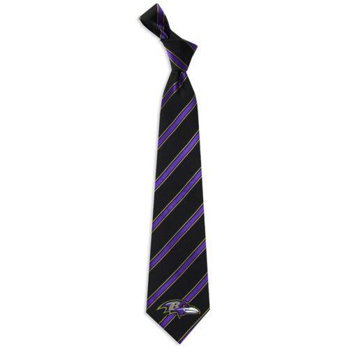 Baltimore Ravens Striped Tie