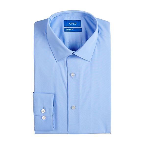 Men's Apt. 9® Premier Flex Extra-Slim Fit ... Spread-Collar Dress Shirt
