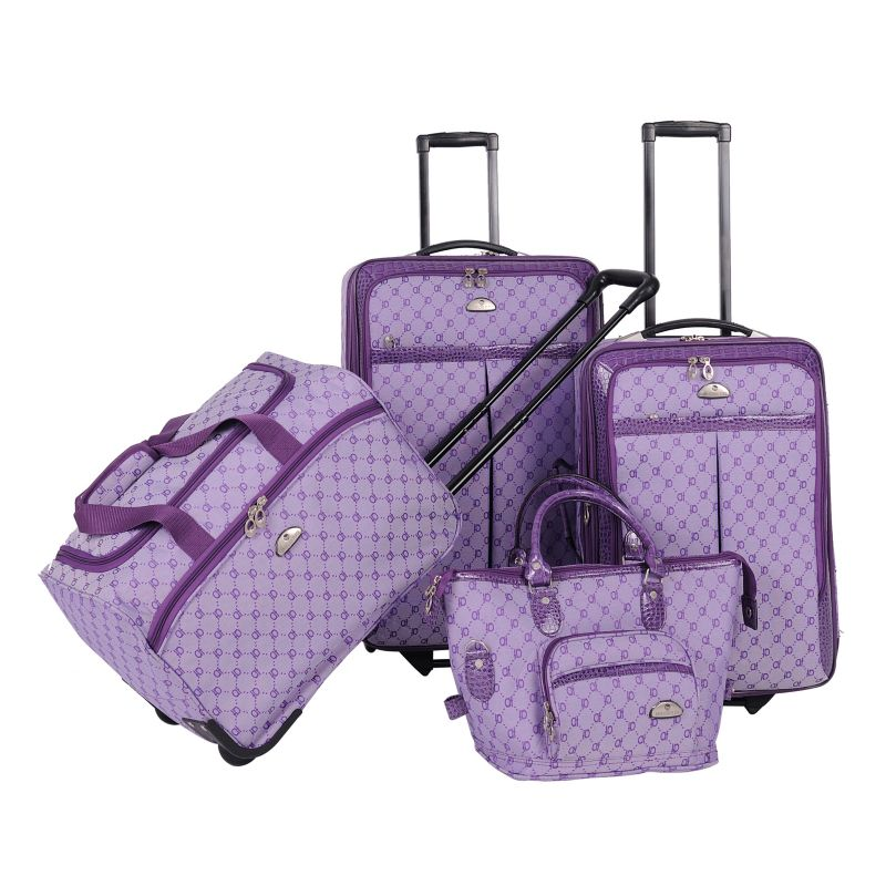 American Flyer AF Signature 4-Piece Luggage Set, Purple