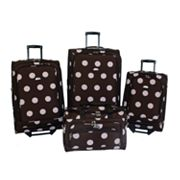 American Flyer Luggage, Grande Dots 4-pc. Luggage Set