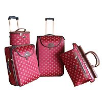 American Flyer Fleur-de-Lis 4 pc Luggage Set
