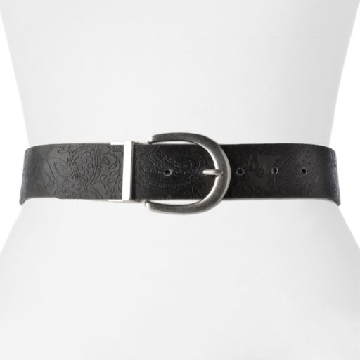 Relic Reversible Bonded-Leather Belt