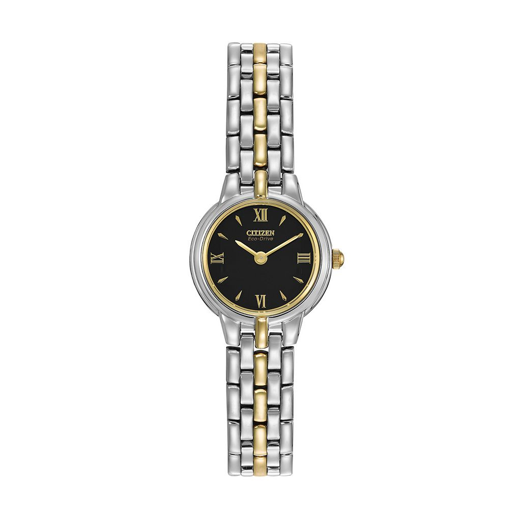 Citizen Eco-Drive Women's Silhouette Two Tone Stainless Steel Watch - EW9334-52E