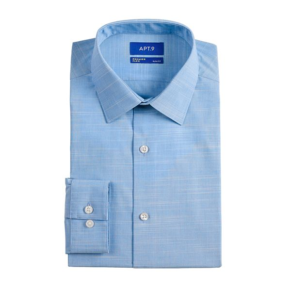 Men's Apt. 9® Premier Flex Slim-Fit Spread-Collar ... Dress Shirt