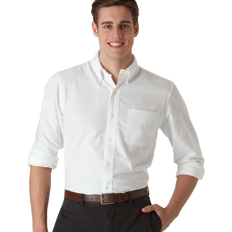 Men's Chaps Classic-Fit Solid Oxford Casual Button-Down Shirt