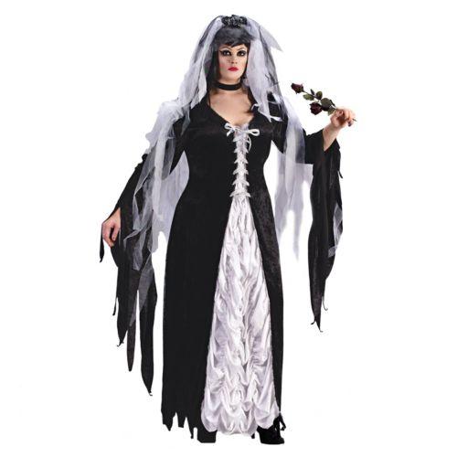 Coffin Bride Costume - Adult Plus