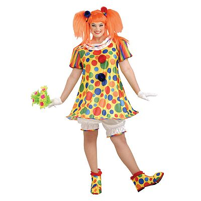 Giggles the Clown Costume - Adult Plus