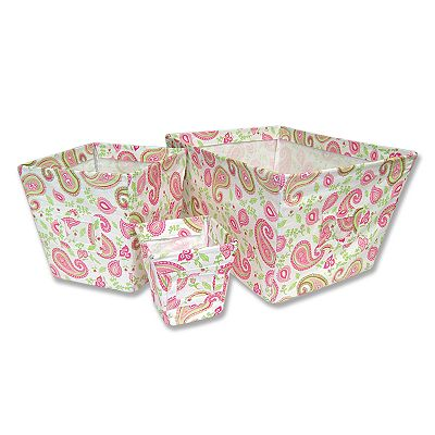 Trend Lab 3-pc. Paisley Storage Bin Set