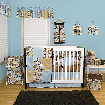 Trend Lab 4-pc. Teal Bubbles Crib Bedding Set