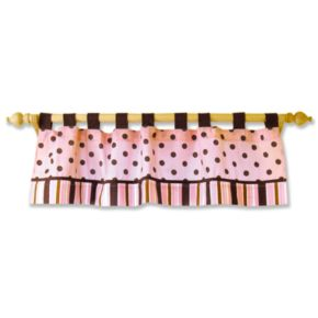 Trend Lab Maya Polka-Dot Striped Window Valance