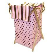 Trend Lab Maya Polka-Dot Striped Hamper