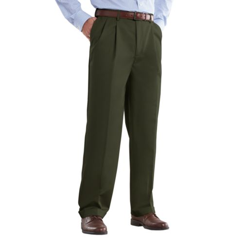 Croft & Barrow® No Iron Classic-Fit Pleated Pants - Men