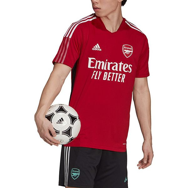 Men's adidas Red Arsenal 2021/22 Training AEROREADY Jersey