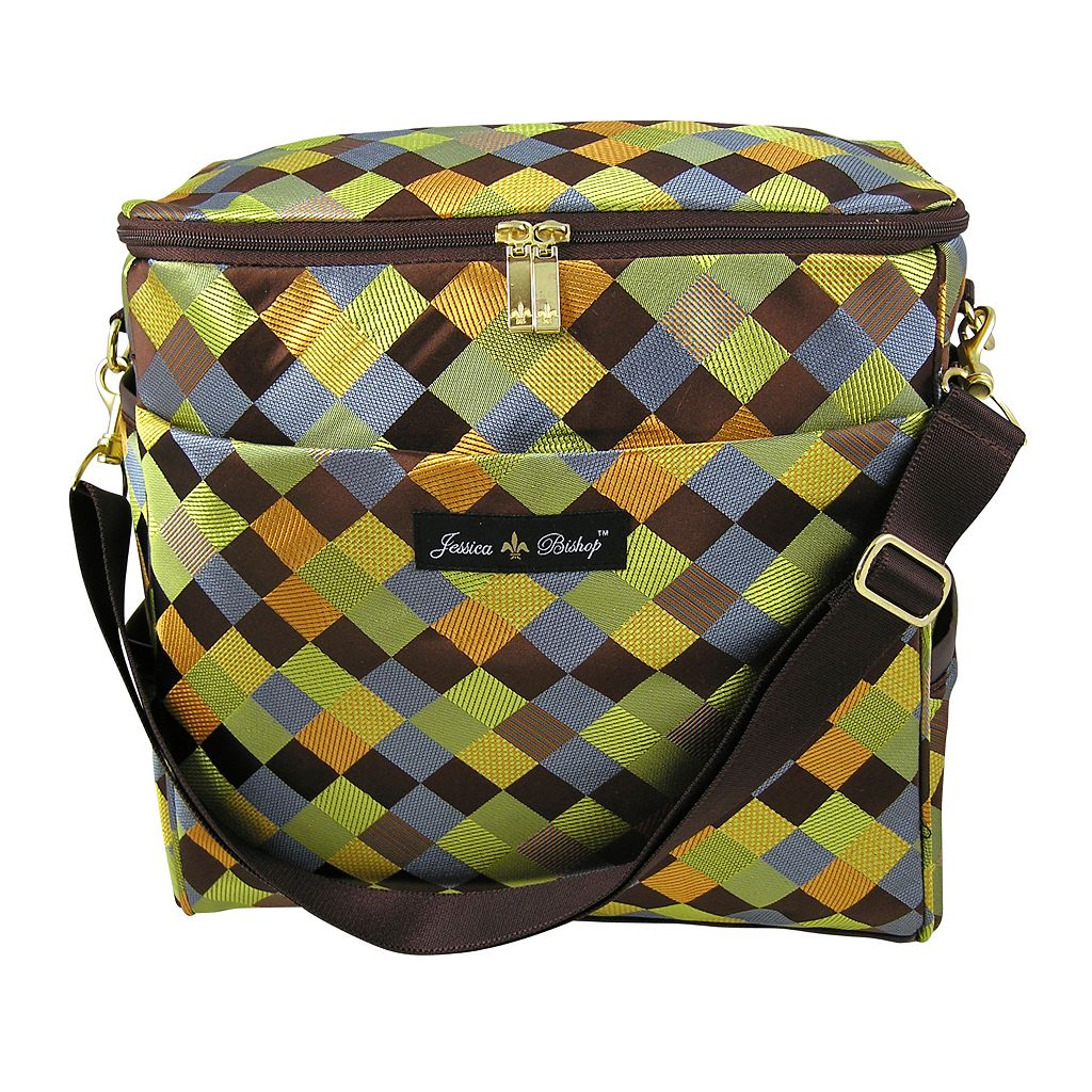 Jessica Bishop Checkerboard Messenger Diaper Bag
