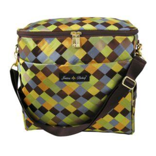 Jessica Bishop Checkerboard Messenger Diaper Bag