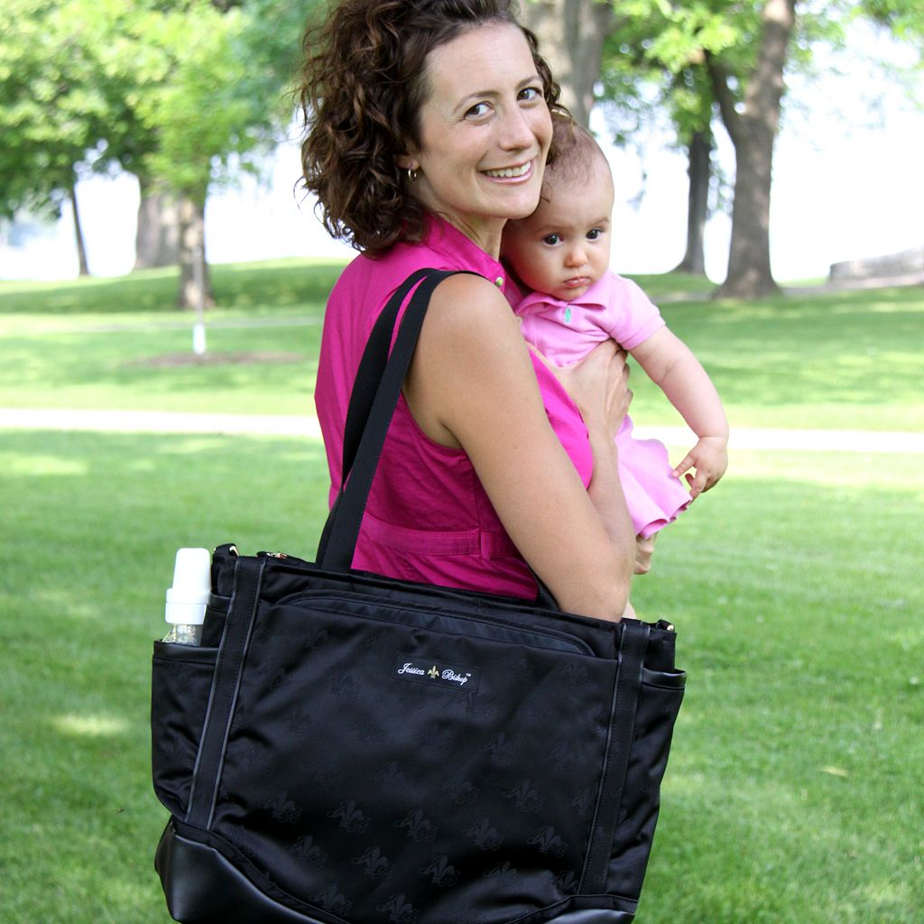 Jessica Bishop Jacquard Personal Diaper Bag