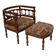 Carolina Accents Savannah Chair and Ottoman Set