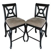 Carolina Accents 2-pc. English Counter Chair Set