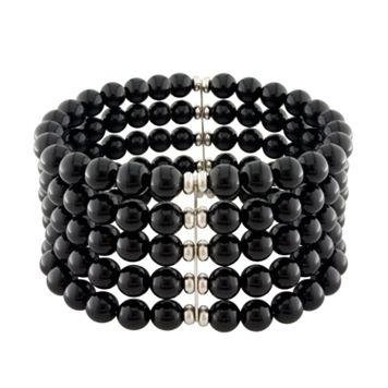 Sterling Silver OnyxStretch Bracelet